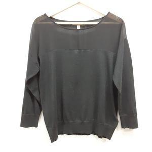 Banana Republic black silk blend sweater Medium